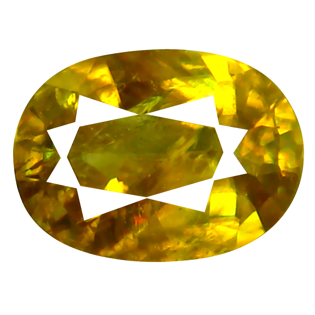 0.81 ct Superb Oval Cut (7 x 5 mm) Pakistan Brownish Yellow Sphene Natural Gemstone