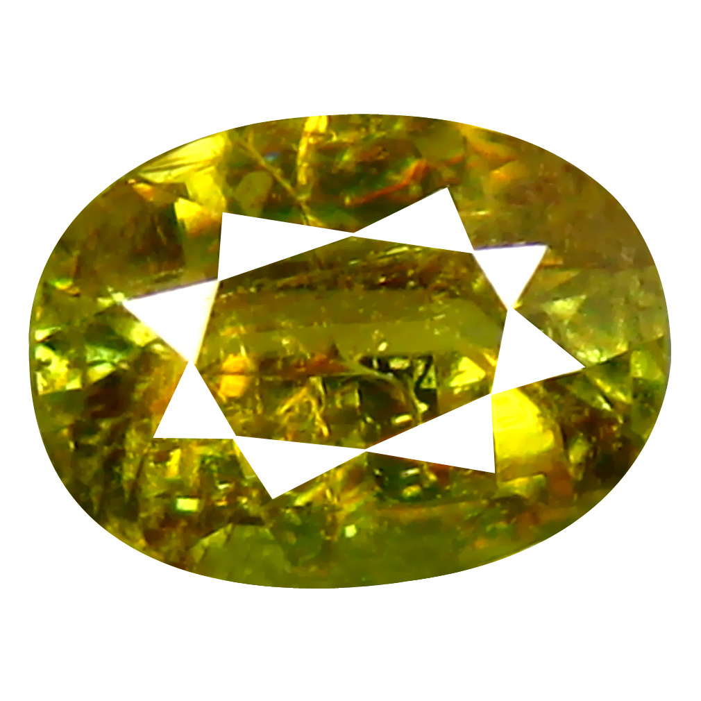 0.87 ct Attractive Oval Cut (7 x 5 mm) Pakistan Brownish Yellow Sphene Natural Gemstone