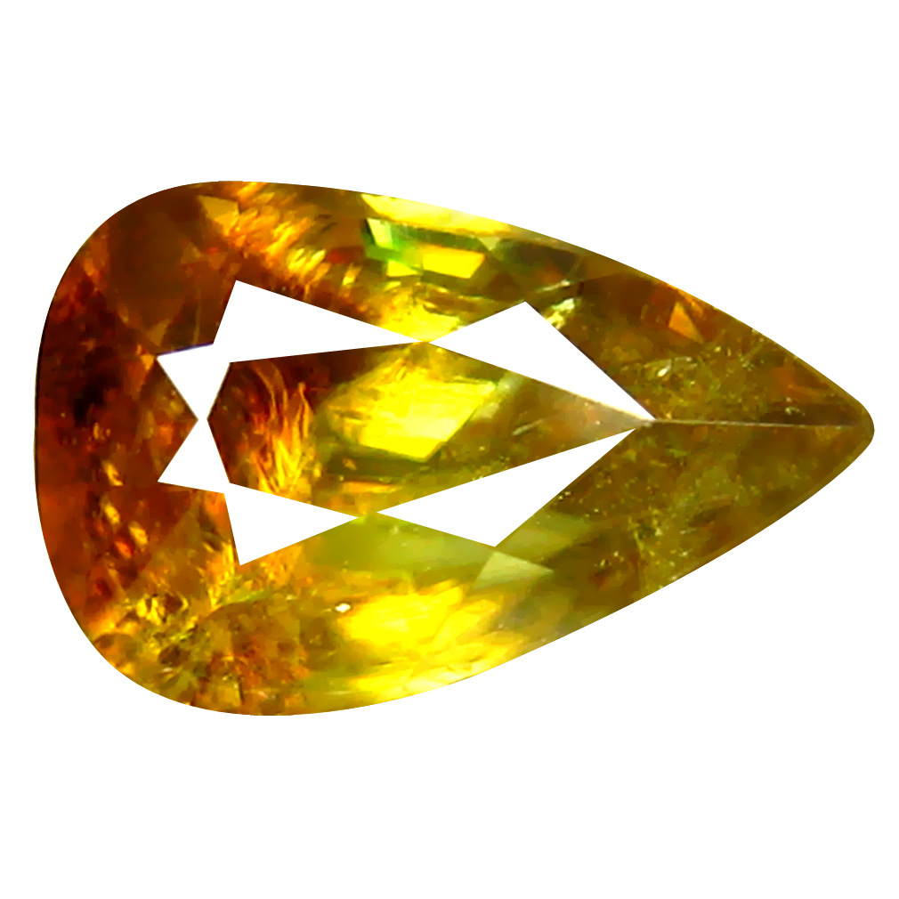 1.48 ct Grand looking Pear Cut (9 x 6 mm) Pakistan Brownish Yellow Sphene Natural Gemstone