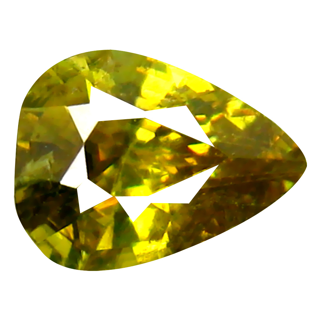 0.81 ct Charming Pear Cut (7 x 5 mm) Pakistan Brownish Yellow Sphene Natural Gemstone