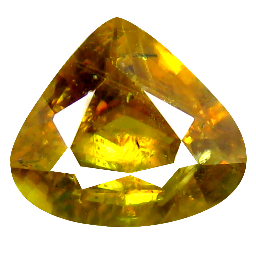 1.47 ct Best Pear Cut (7 x 8 mm) Pakistan Brownish Yellow Sphene Natural Gemstone