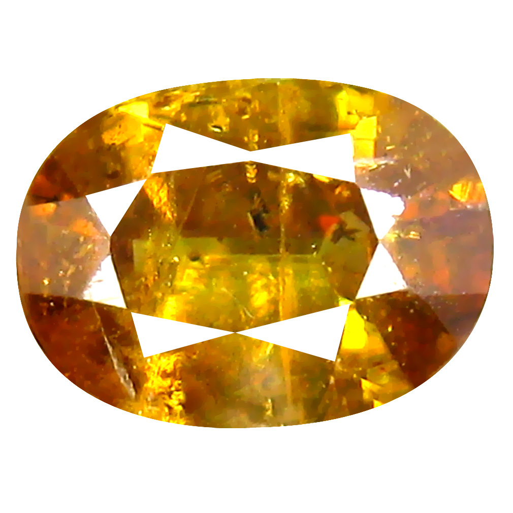 1.07 ct Incomparable Oval Cut (8 x 6 mm) Pakistan Brownish Yellow Sphene Natural Gemstone