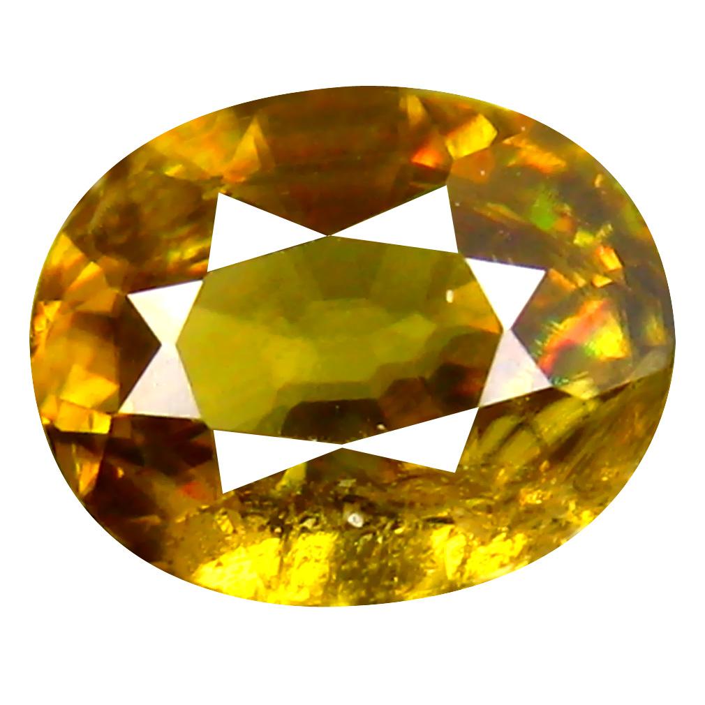 1.23 ct Good-looking Oval Cut (8 x 6 mm) Pakistan Brownish Yellow Sphene Natural Gemstone