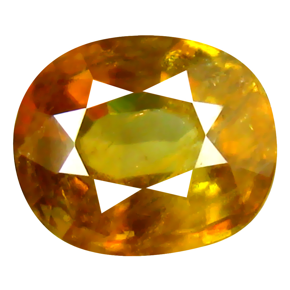 1.34 ct Outstanding Oval Cut (8 x 6 mm) Pakistan Brownish Yellow Sphene Natural Gemstone