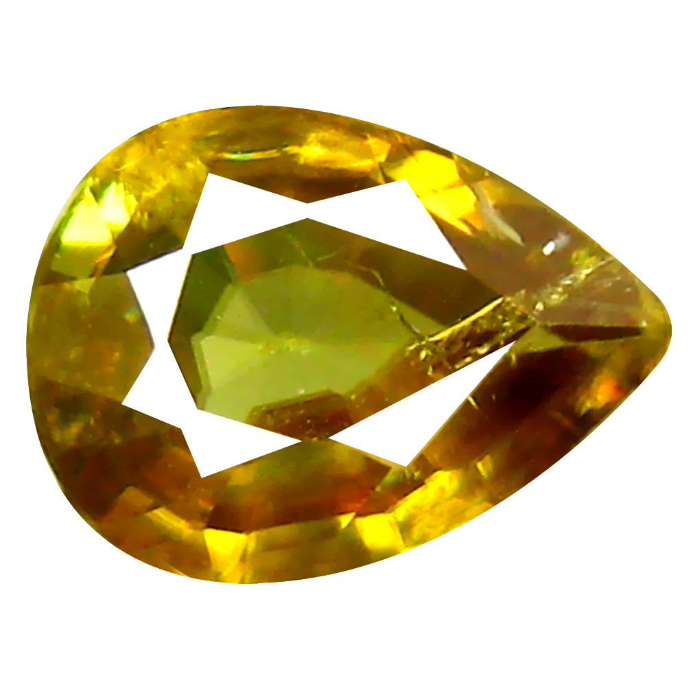 0.89 ct Grand looking Pear Cut (8 x 6 mm) Pakistan Brownish Yellow Sphene Natural Gemstone