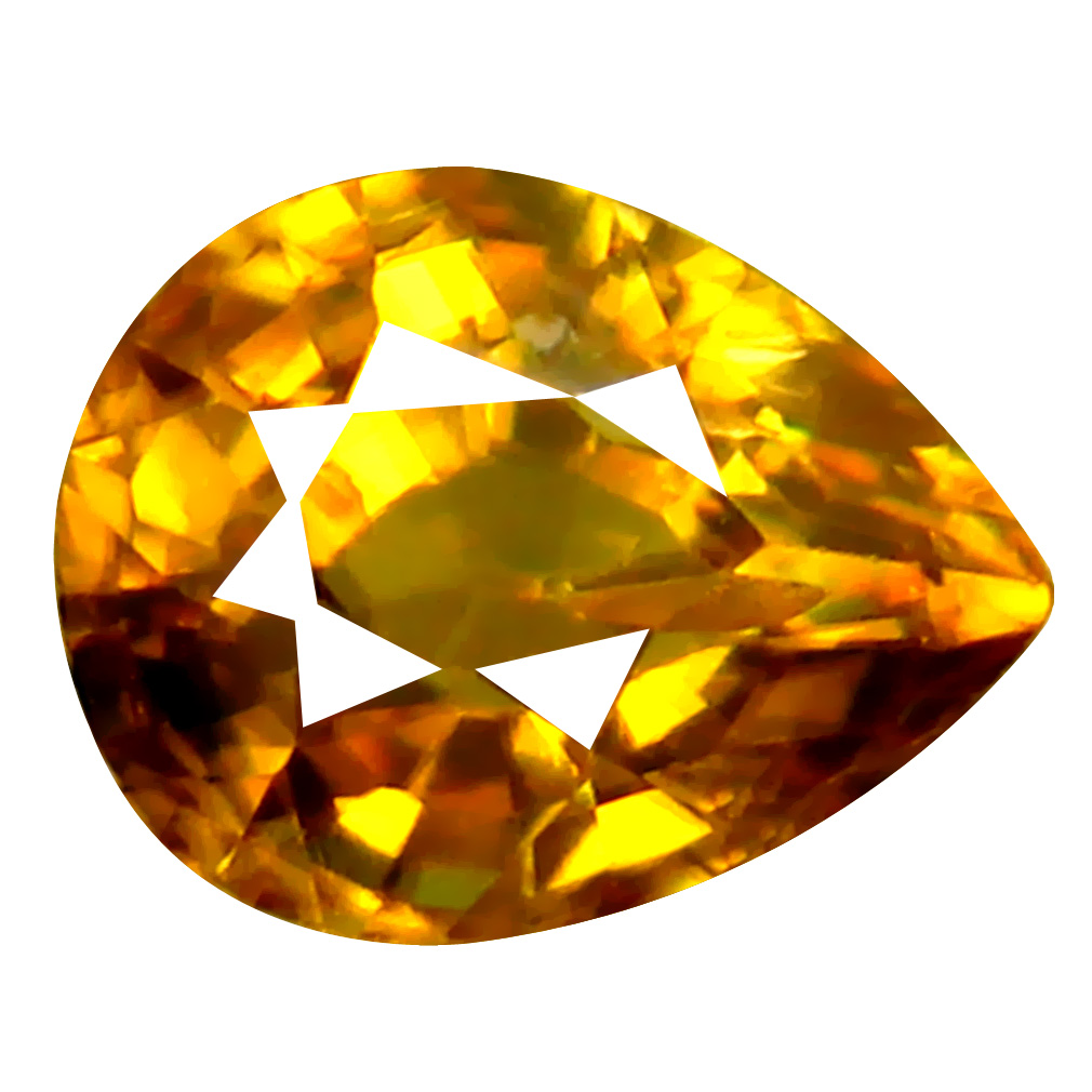 0.82 ct Remarkable Pear Cut (6 x 5 mm) Pakistan Brownish Yellow Sphene Natural Gemstone