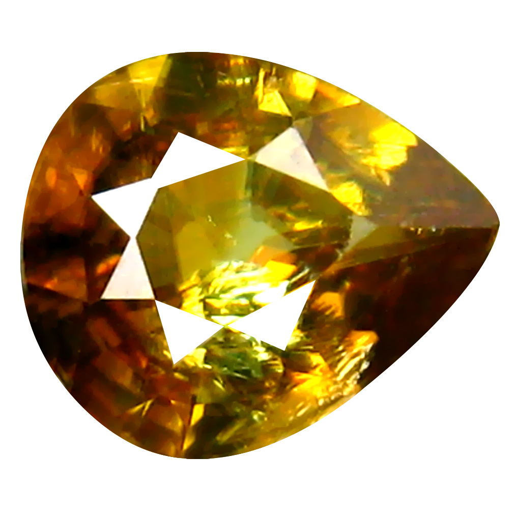 0.71 ct Attractive Pear Cut (7 x 6 mm) Pakistan Brownish Yellow Sphene Natural Gemstone