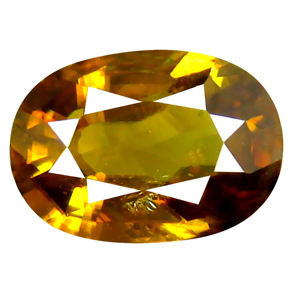 1.48 ct Spectacular Oval Cut (9 x 6 mm) Pakistan Brownish Yellow Sphene Natural Gemstone
