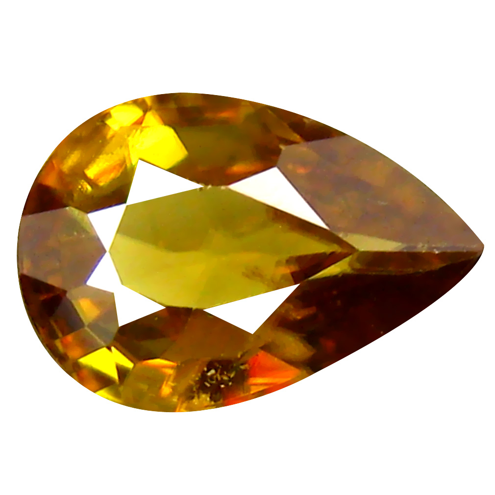 1.12 ct Best Pear Cut (9 x 6 mm) Pakistan Brownish Yellow Sphene Natural Gemstone