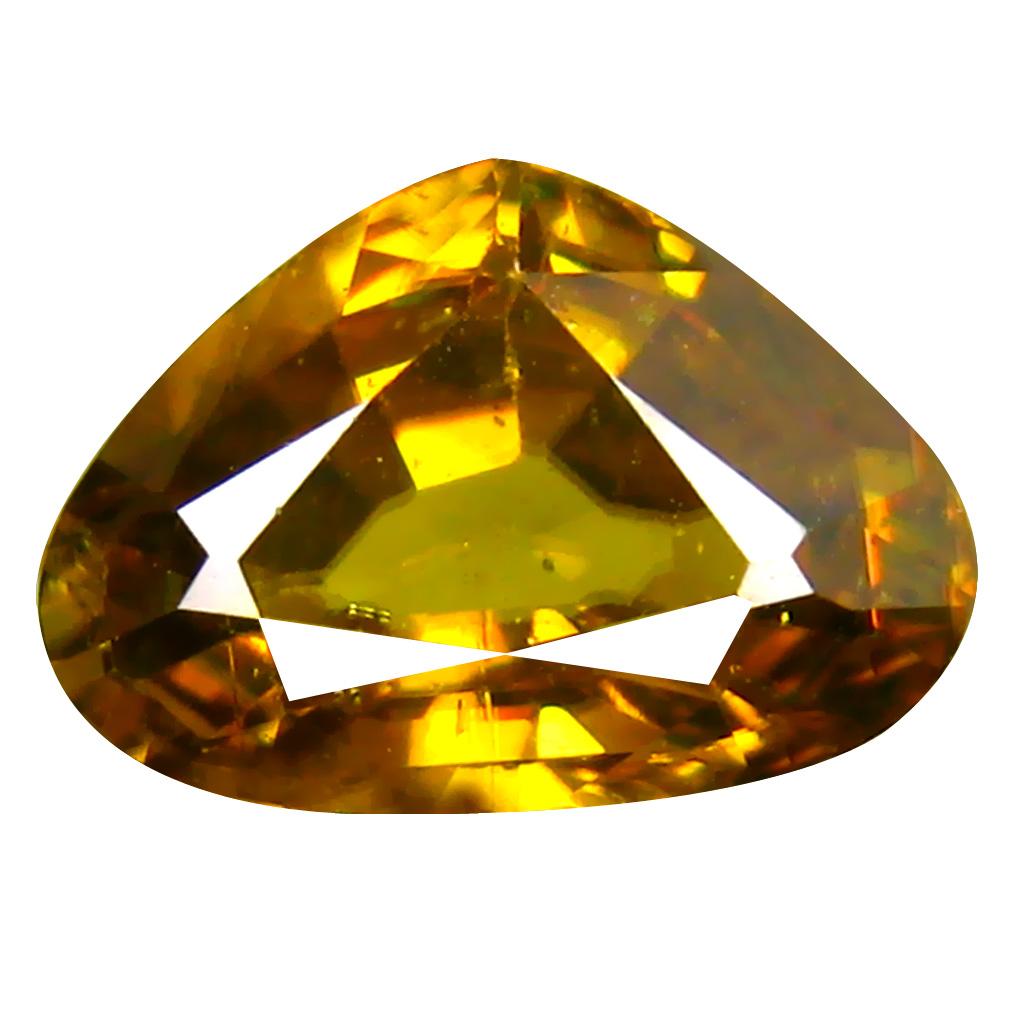2.06 ct Awe-inspiring Pear Cut (7 x 10 mm) Pakistan Brownish Yellow Sphene Natural Gemstone