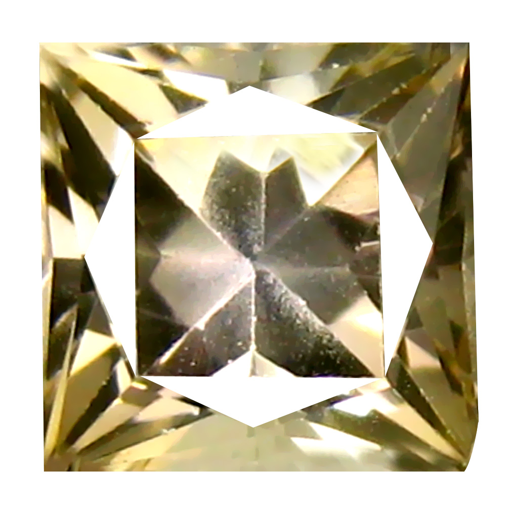 1.35 ct Tremendous Princess Cut (6 x 6 mm) Fancy Golden Yellow 100% Natural (Un-Heated) Tanzanite Natural Gemstone