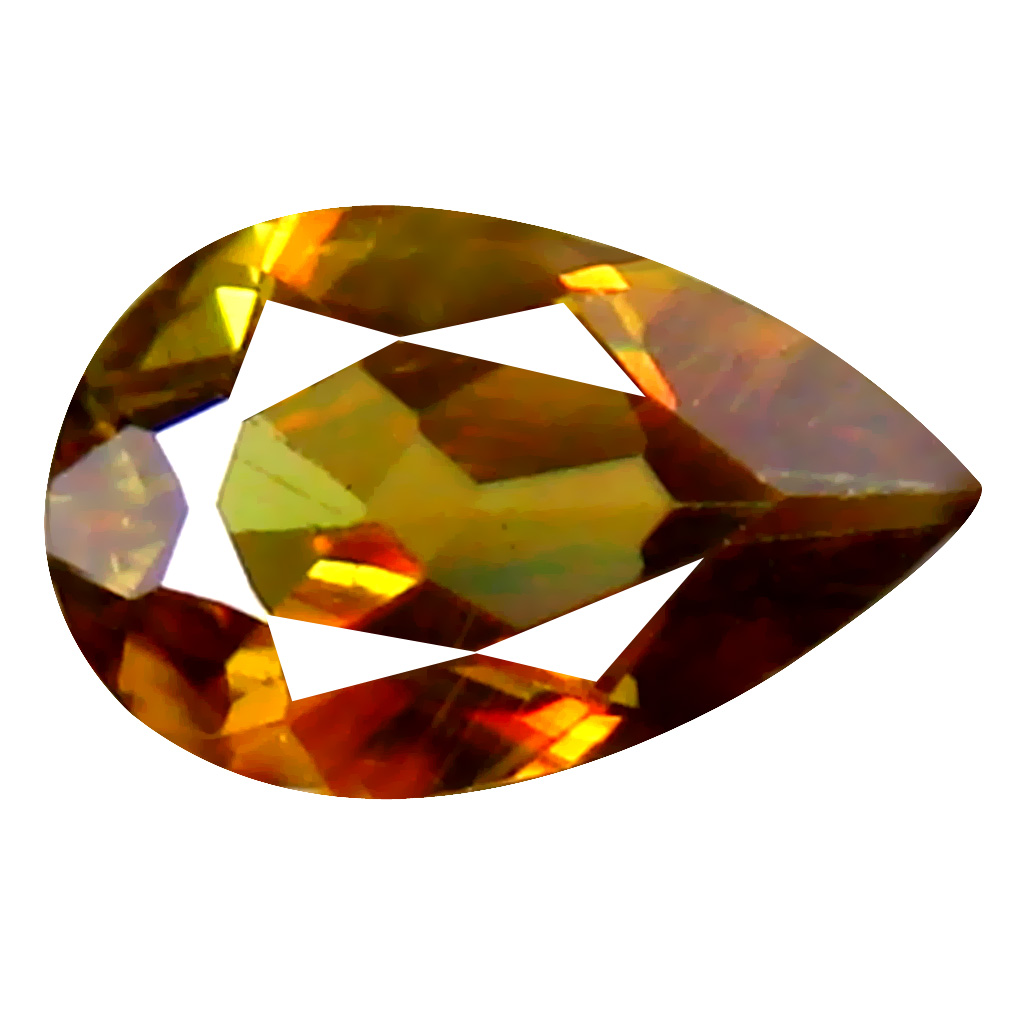 0.69 ct Excellent Pear Cut (8 x 5 mm) Un-Heated Brownish Yellow Sphene Natural Gemstone
