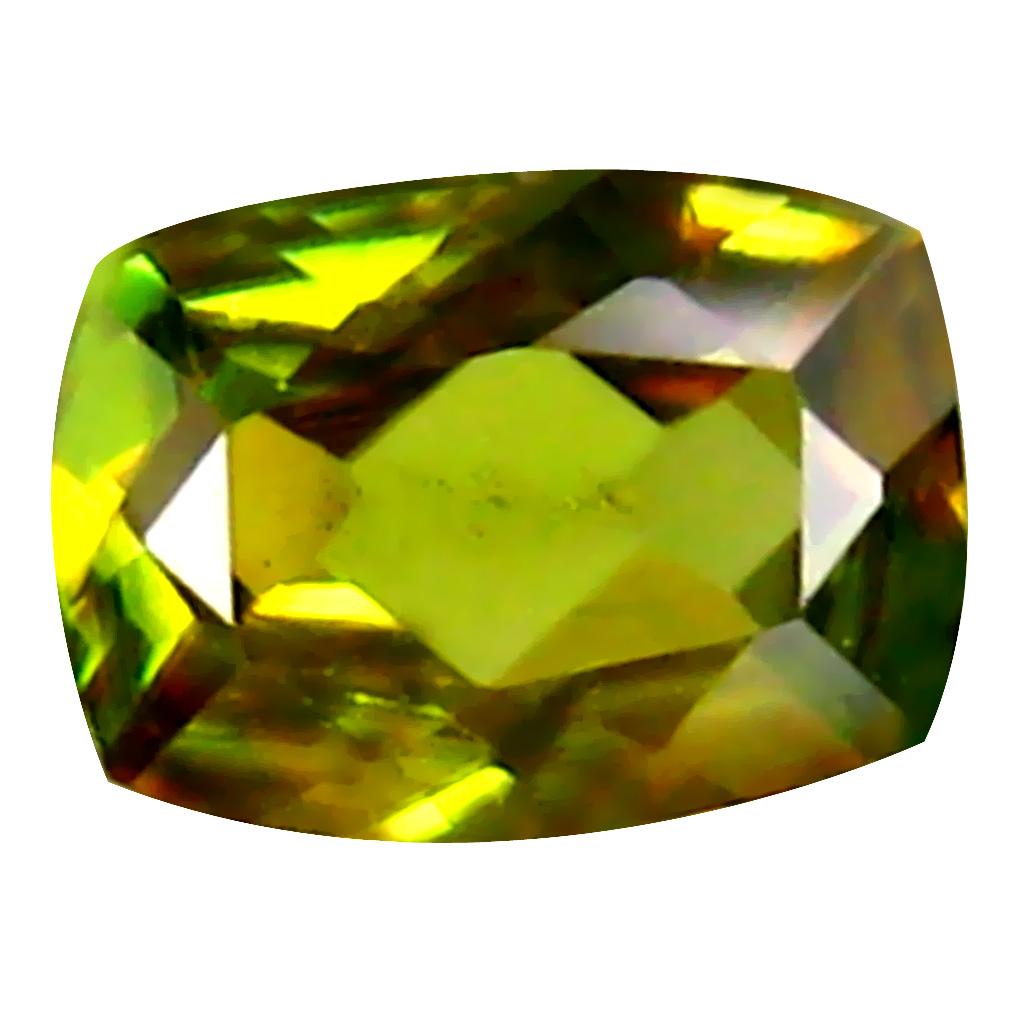 0.45 ct Impressive Cushion Cut (6 x 4 mm) Un-Heated Greenish Yellow Sphene Natural Gemstone