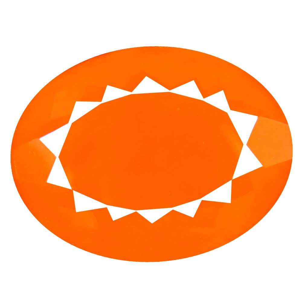 14.46 ct Impressive Oval Cut (21 x 16 mm) Mexico Orange Red Fire Opal Natural Gemstone