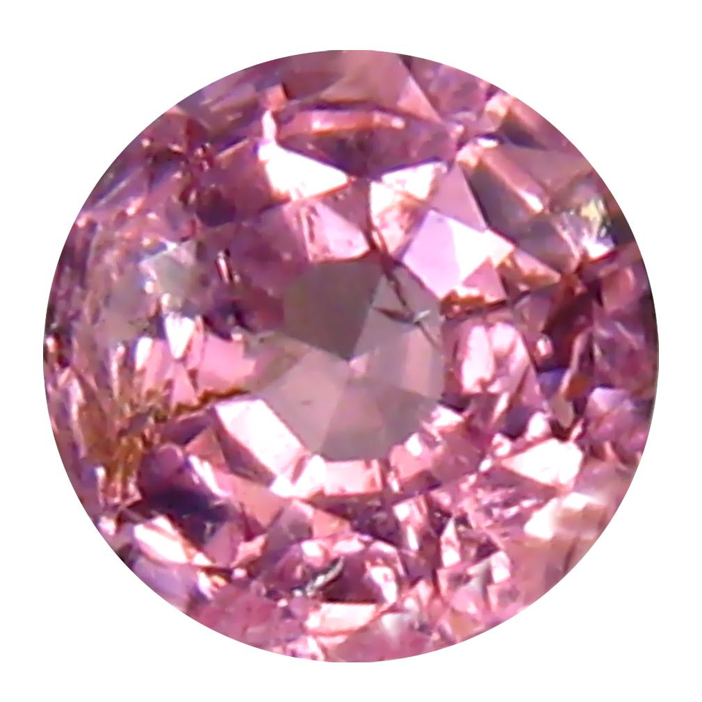 0.37 ct Superb Round (4 x 4 mm) Unheated / Untreated Tanzania Pink Spinel Loose Gemstone