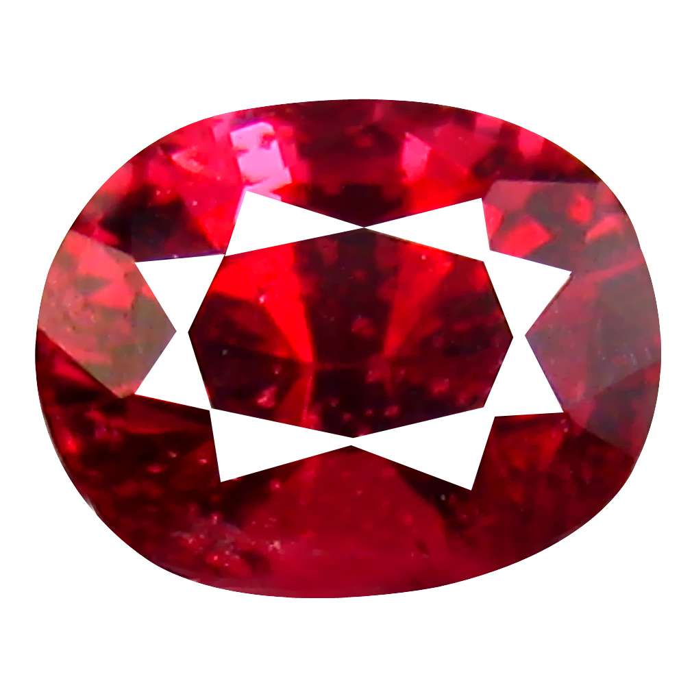 0.69 ct Fair Oval Cut (5 x 4 mm) Tanzanian Red Spinel Loose Gemstone