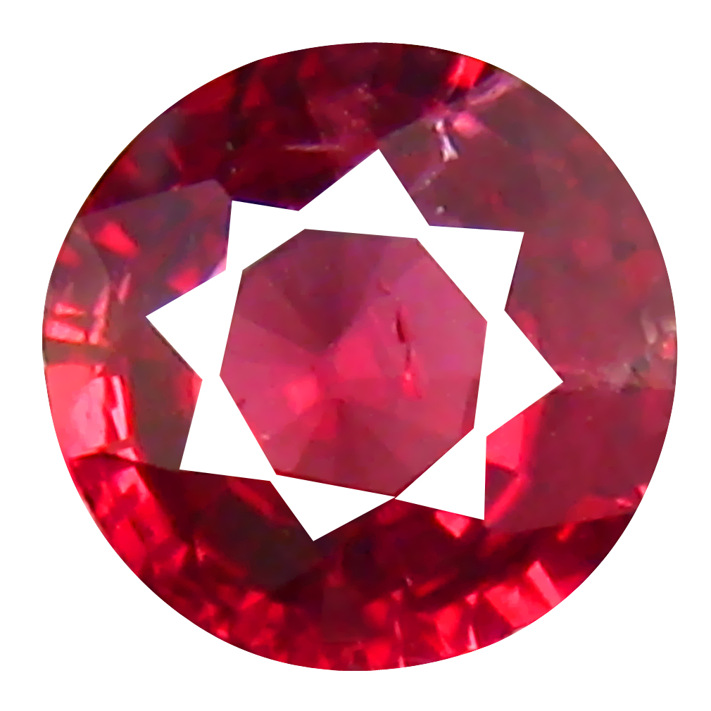 0.30 ct Superb Round Cut (4 x 5 mm) Tanzanian Red Spinel Loose Gemstone