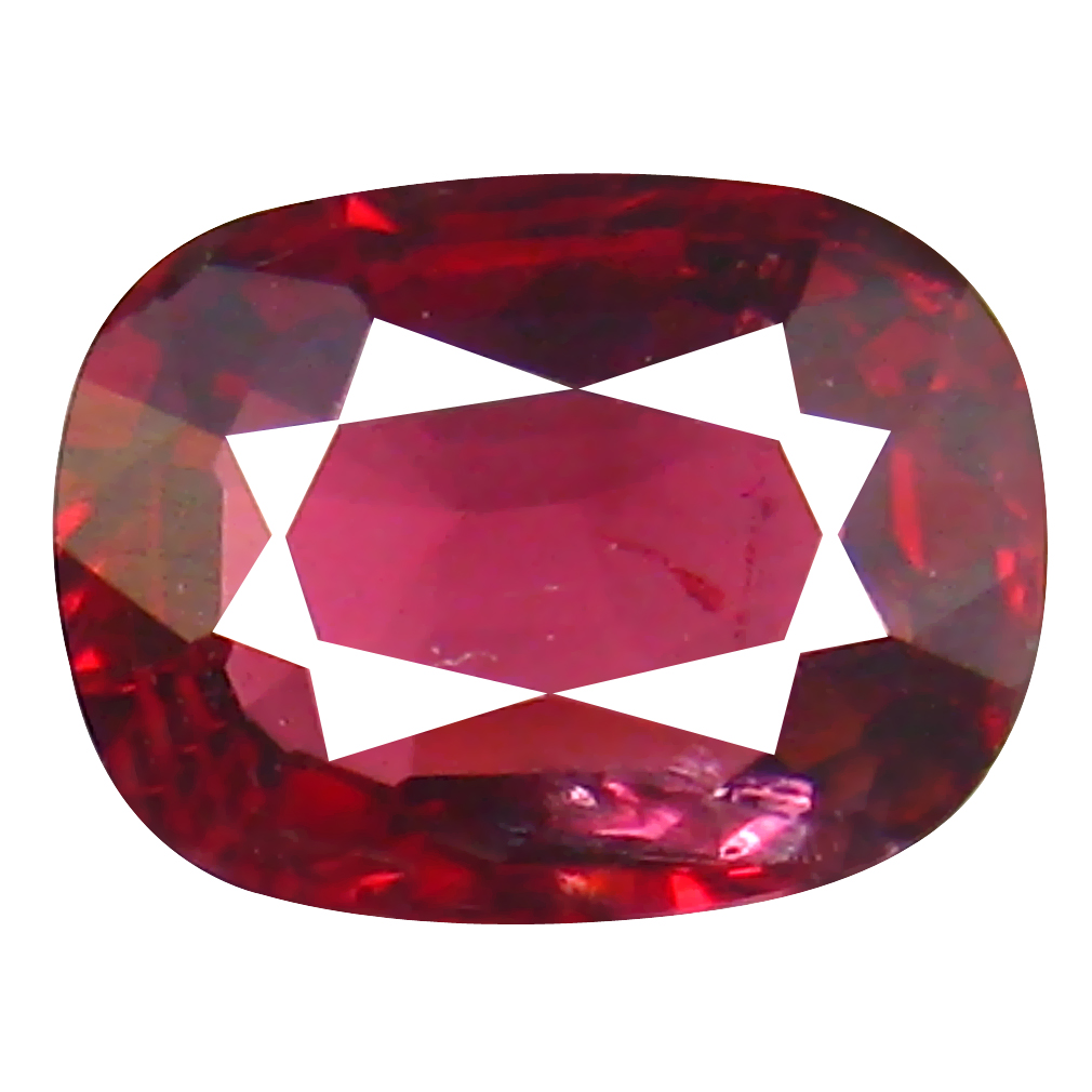 0.82 ct Excellent Cushion Cut (7 x 5 mm) Tanzanian Red Spinel Loose Gemstone
