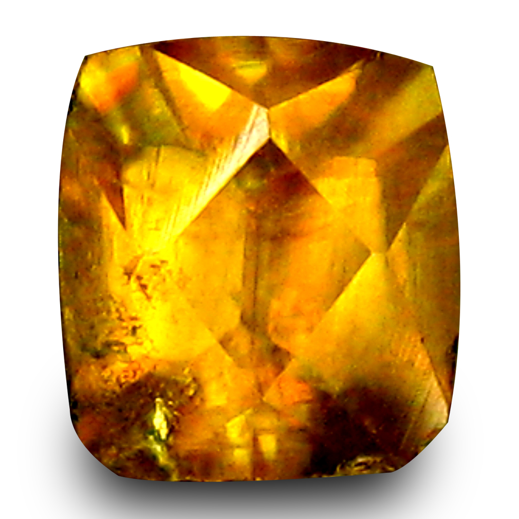 0.64 ct Magnificent fire Cushion Cut (5 x 5 mm) Un-Heated Natural Sphene Loose Gemstone