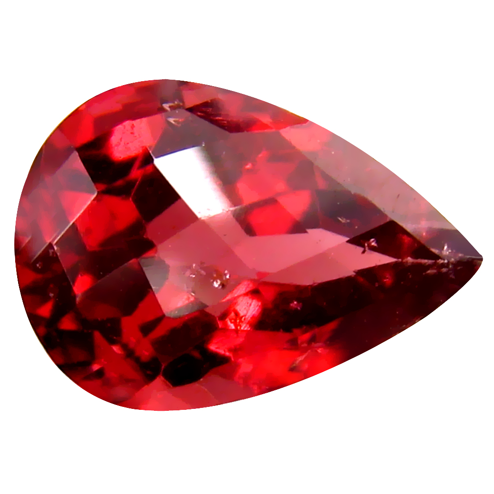 2.40 ct Shimmering VVS Clarity Pear Cut (10 x 7 mm) Pinkish Red Rhodolite Garnet Natural Loose Gemstone
