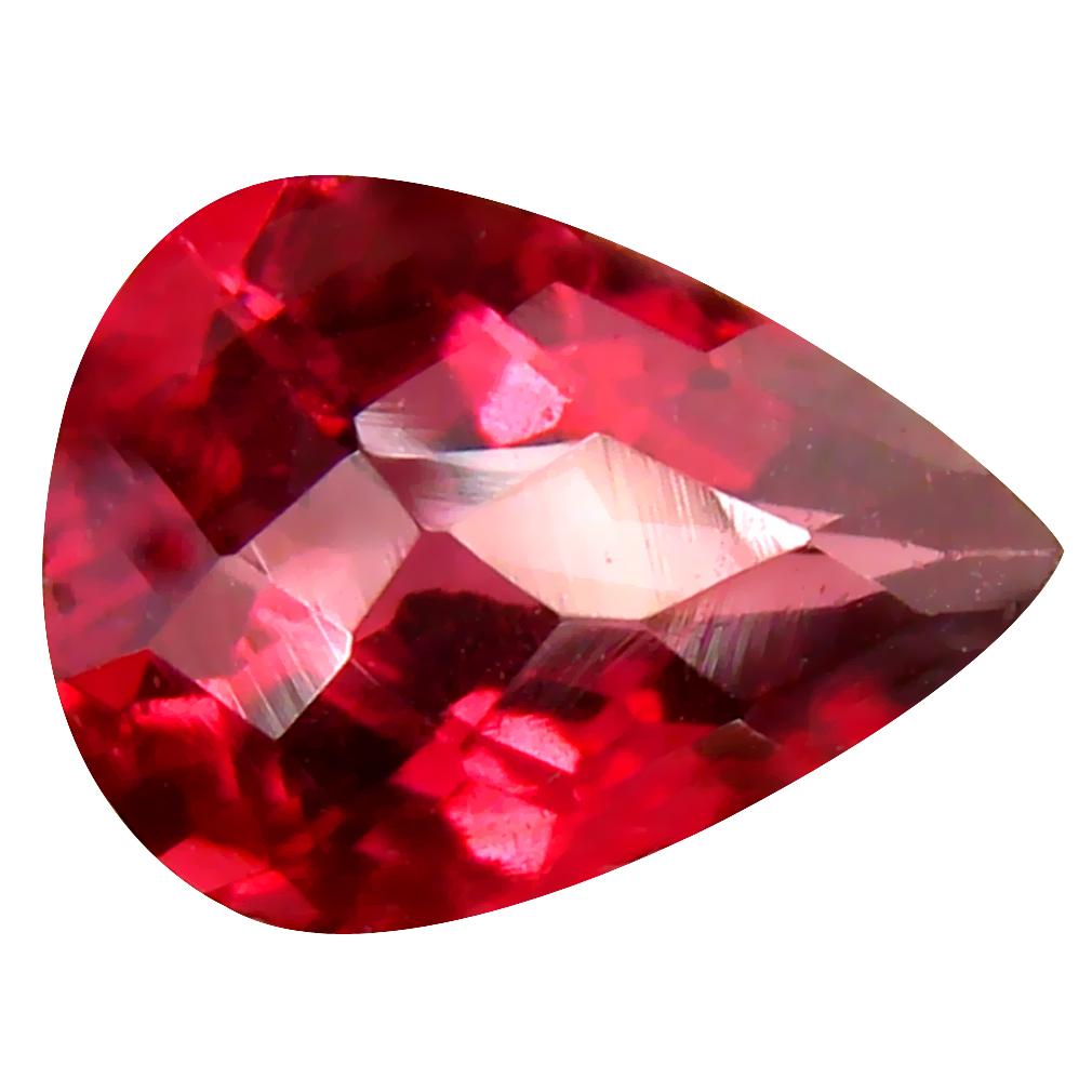1.75 ct Impressive VVS Clarity Pear Cut (9 x 7 mm) Pinkish Red Rhodolite Garnet Natural Loose Gemstone