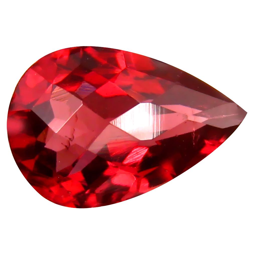 1.66 ct Lovely VVS Clarity Pear Cut (9 x 9 mm) Pinkish Red Rhodolite Garnet Natural Loose Gemstone