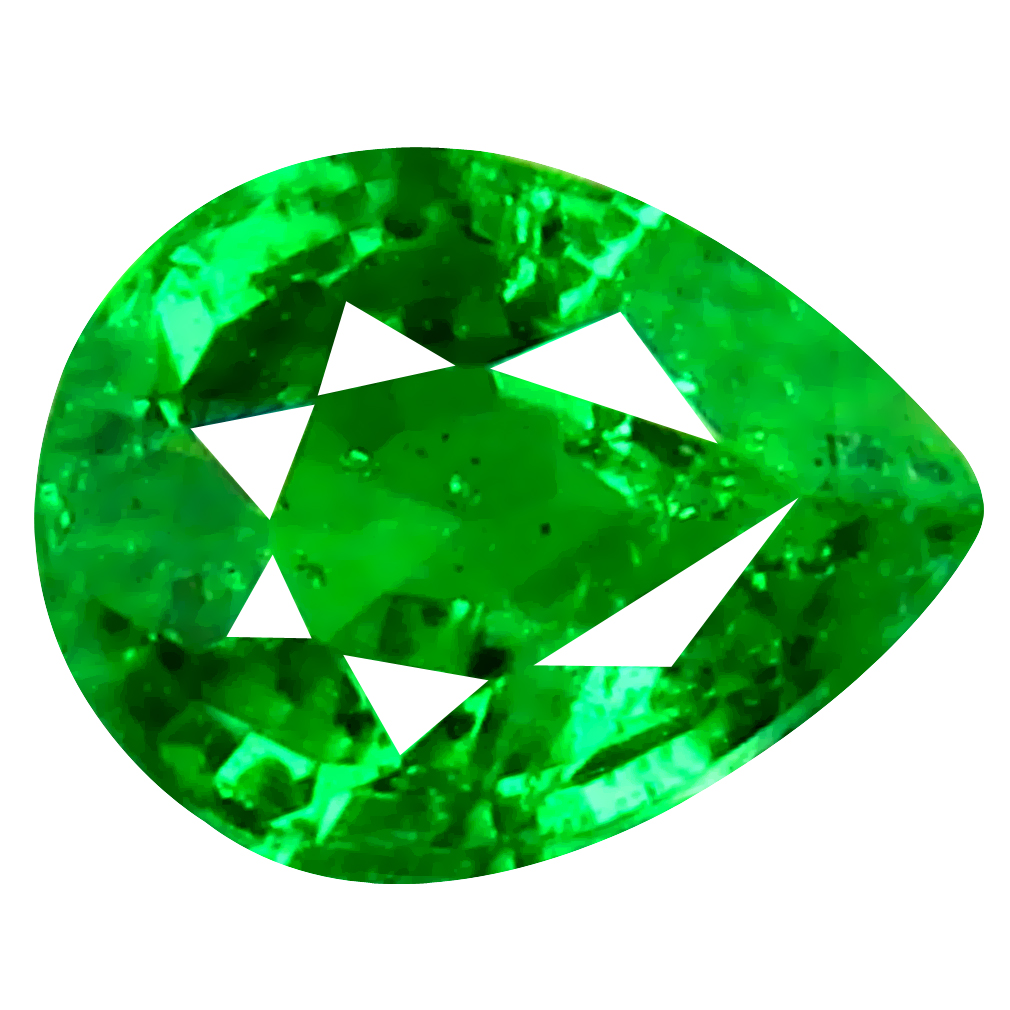 0.40 ct Astonishing Pear Cut (5 x 4 mm) Tanzanian Green Tsavorite Garnet Loose Gemstone