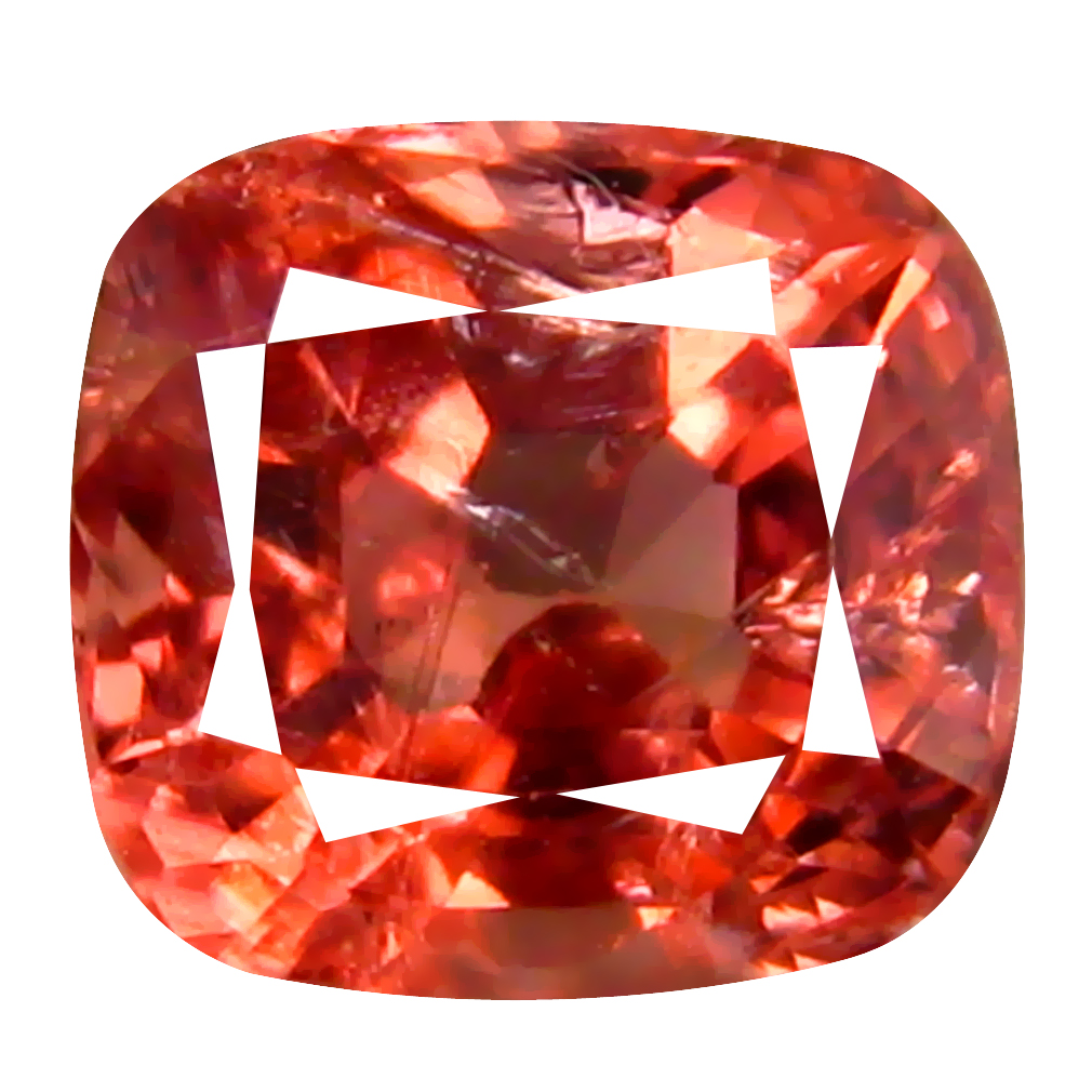 0.85 ct AAA+ Romantic Cushion Shape (6 x 5 mm) Orange Pink Spinel Natural Gemstone