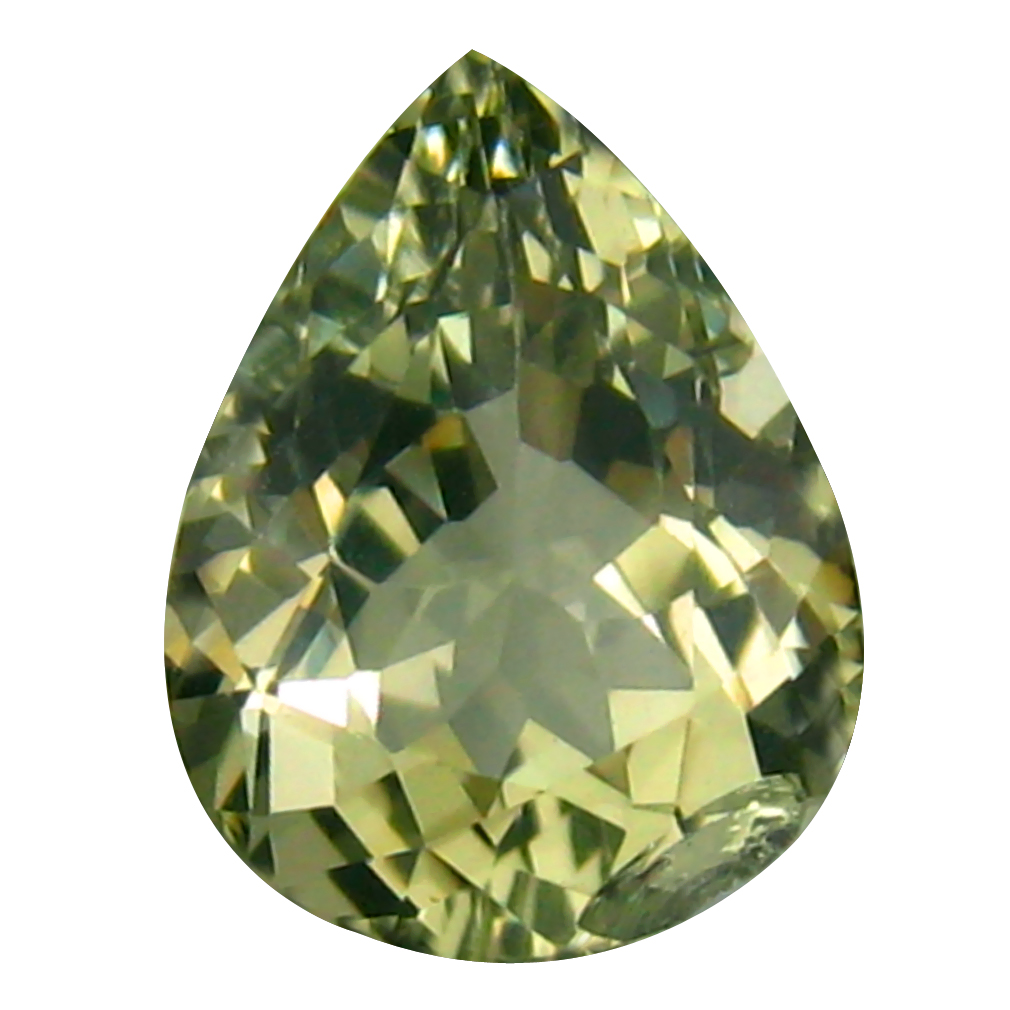 1.94 ct Topnotch Pear (10 x 8 mm) 100% Natural Brazil Green Beryl Loose Gemstone
