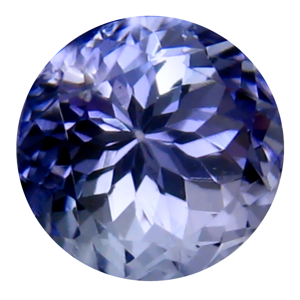 1.32 ct Eye-catching Round Cut (6 x 6 mm) Un-Heated Bluish Violet Tanzanite Natural Gemstone