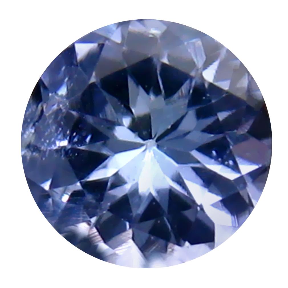 0.79 ct Incomparable Round Cut (6 x 6 mm) Un-Heated Bluish Violet Tanzanite Natural Gemstone