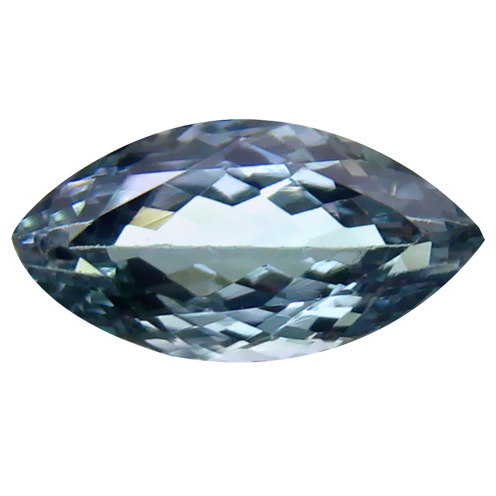 1.35 ct Dazzling Marquise Cut (10 x 5 mm) Un-Heated Greenish Blue Tanzanite Natural Gemstone