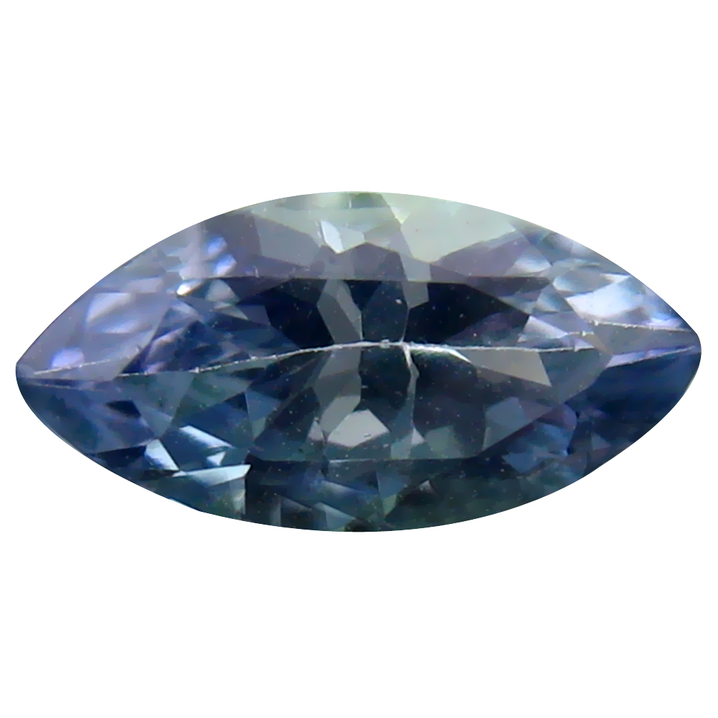 1.32 ct Phenomenal Marquise Cut (11 x 5 mm) Un-Heated Greenish Blue Tanzanite Natural Gemstone