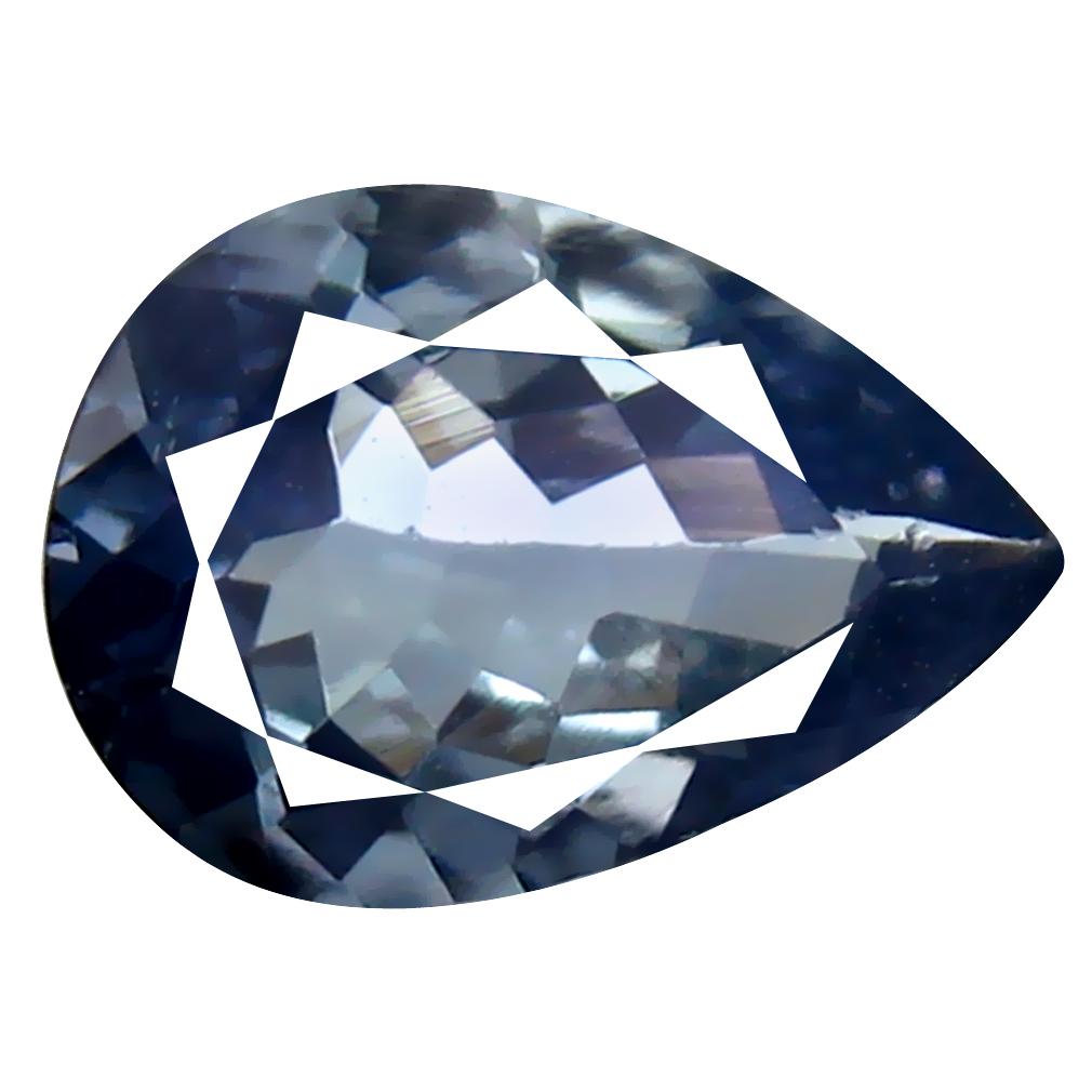 1.05 ct Extraordinary Pear Cut (8 x 6 mm) Un-Heated Greenish Blue Tanzanite Natural Gemstone