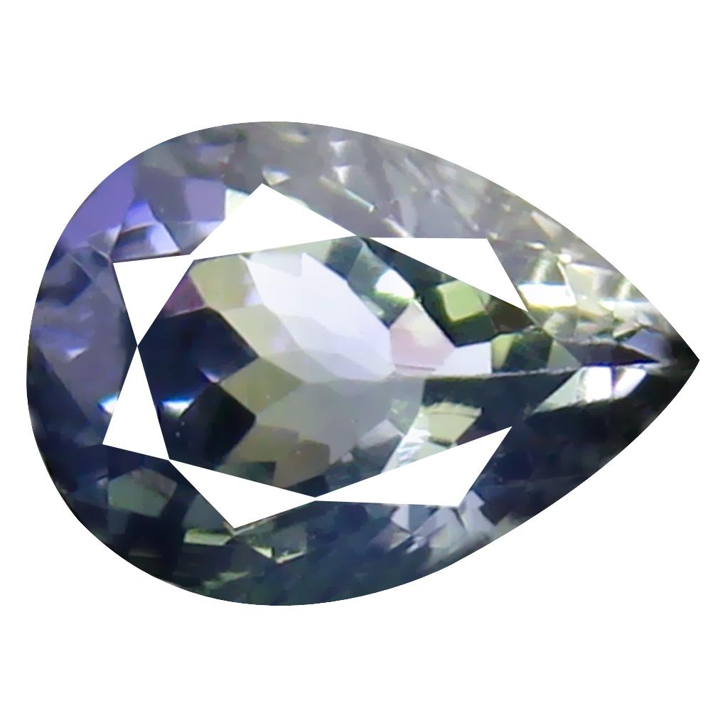 1.13 ct Great looking Pear Cut (8 x 6 mm) Un-Heated Greenish Blue Tanzanite Natural Gemstone