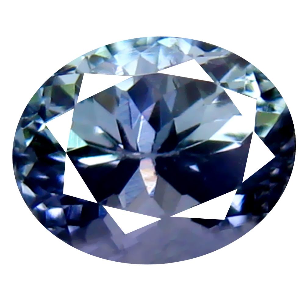 1.12 ct Unbelievable Oval Cut (7 x 5 mm) Un-Heated Greenish Blue Tanzanite Natural Gemstone