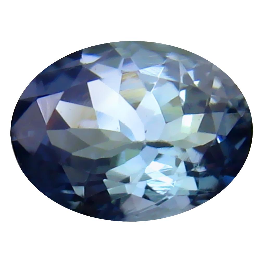 1.08 ct Lovely Oval Cut (8 x 6 mm) Un-Heated Greenish Blue Tanzanite Natural Gemstone