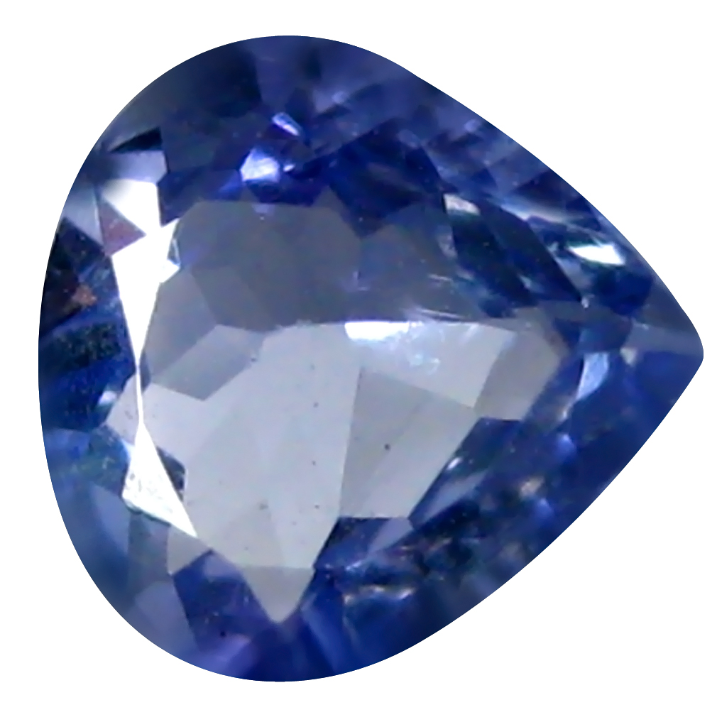0.59 ct AAA Charming Pear Shape (6 x 6 mm) Bluish Violet Tanzanite Natural Gemstone