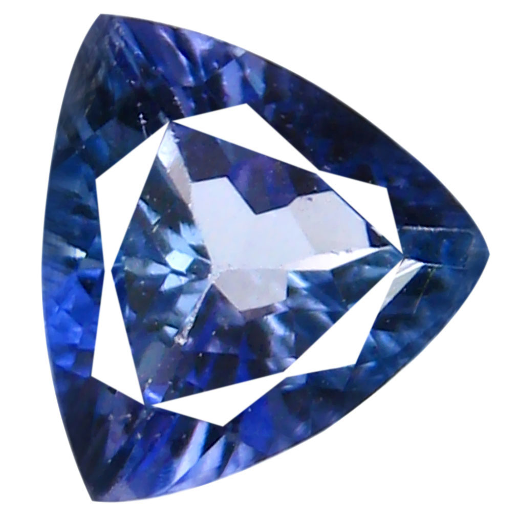 0.53 ct Significant Trillion Shape (6 x 5 mm) Bluish Violet Tanzanite Genuine Stone
