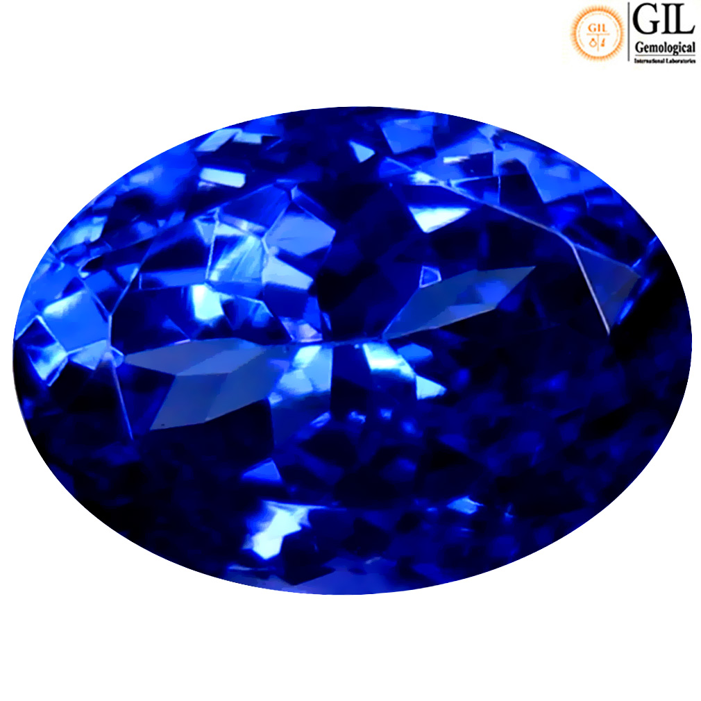 2.05 ct GIL CERTIFIED REMARKABLE OVAL SHAPE (9 X 7 MM) BLUISH VIOLET TANZANITE NATURAL GEMSTONE