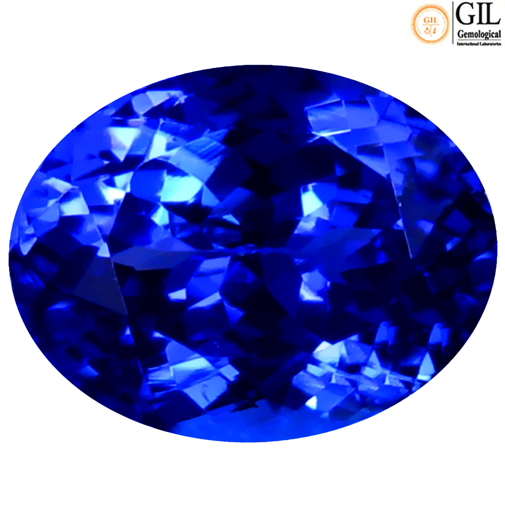 2.87 ct GIL CERTIFIED GREAT LOOKING OVAL SHAPE (10 X 7 MM) BLUISH VIOLET TANZANITE NATURAL GEMSTONE
