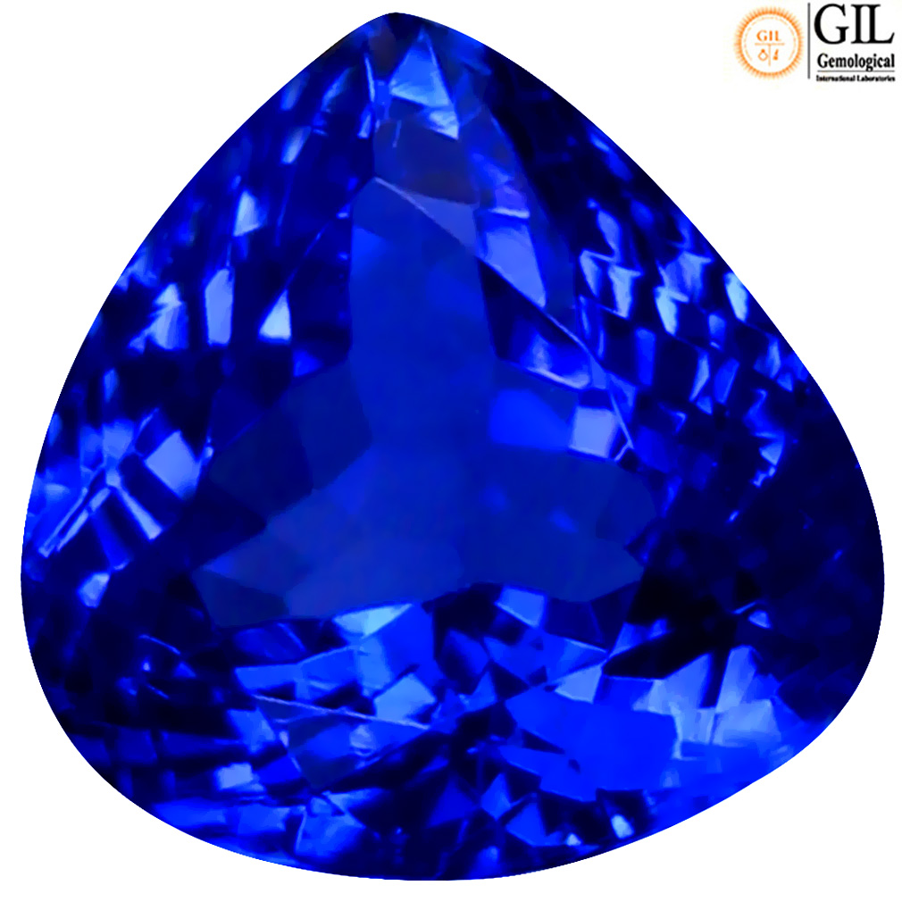 2.27 ct GIL CERTIFIED RESPLENDENT PEAR SHAPE (8 X 8 MM) BLUISH VIOLET TANZANITE NATURAL GEMSTONE