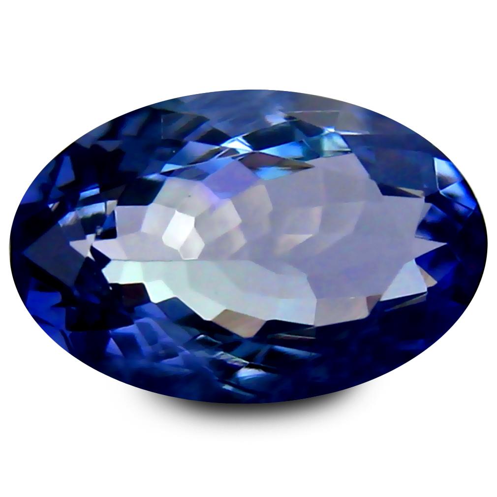 Colour Tanzanite: 1.54 Ct AAA Stunning Oval Shape (9 X 6 Mm) Bluish Violet