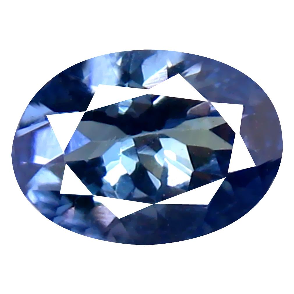 0.70 ct Supreme Oval Cut (7 x 5 mm) Un-Heated Bluish Violet Tanzanite Natural Gemstone