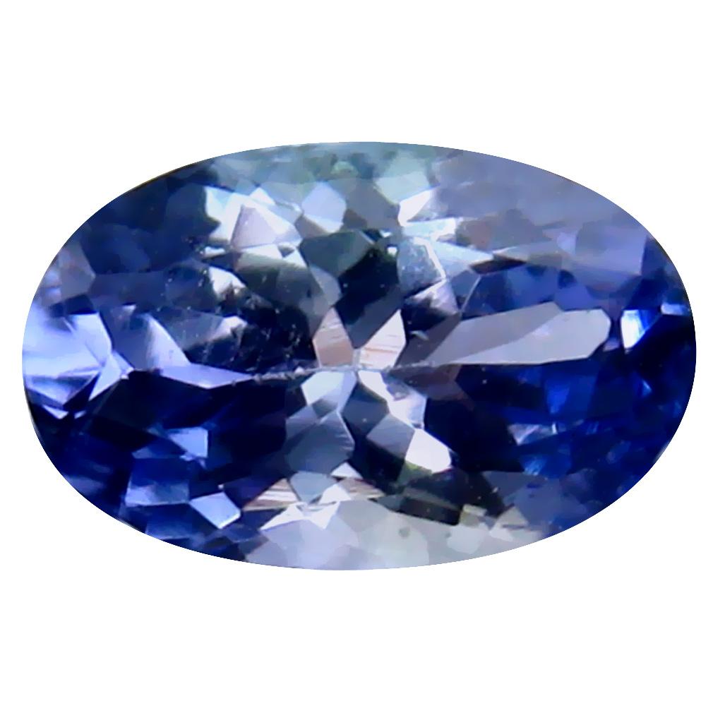 0.87 ct Wonderful Oval Cut (7 x 5 mm) Un-Heated Bluish Violet Tanzanite Natural Gemstone