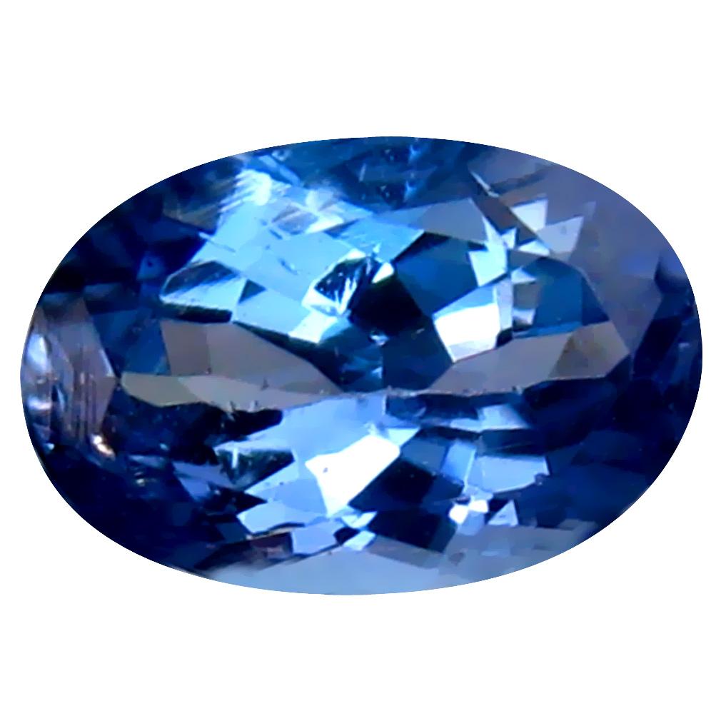 0.82 ct Charming Oval Cut (7 x 5 mm) Un-Heated Bluish Violet Tanzanite Natural Gemstone
