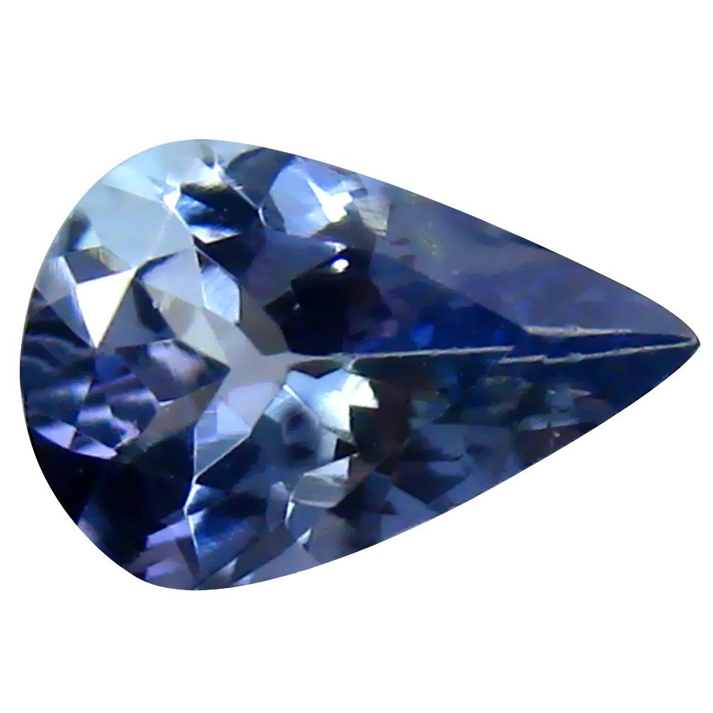 1.04 ct Magnificent fire Pear Cut (9 x 6 mm) Tanzanian Bluish Violet Tanzanite Loose Gemstone