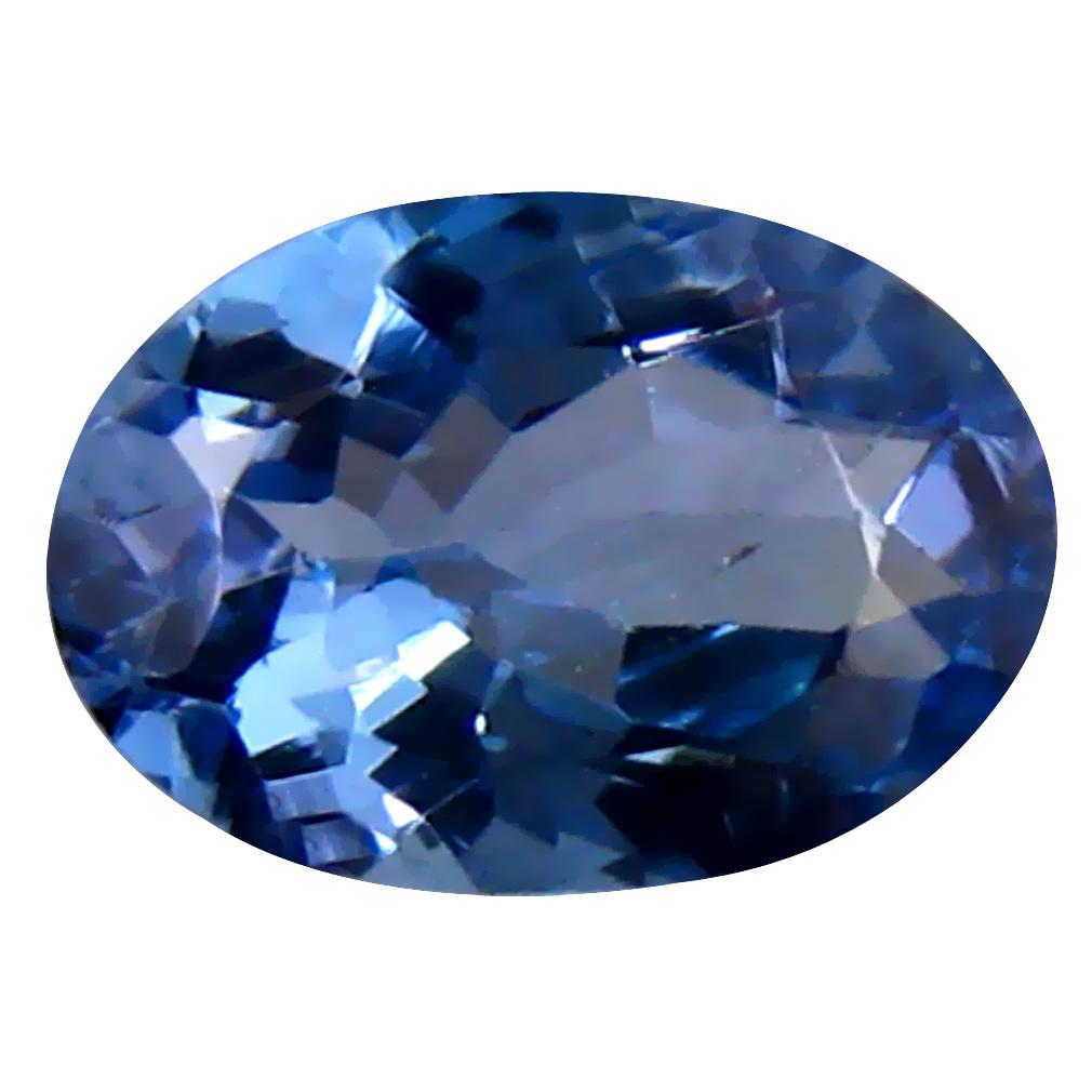 0.71 ct Splendid Oval Cut (7 x 5 mm) Tanzanian Bluish Violet Tanzanite Loose Gemstone