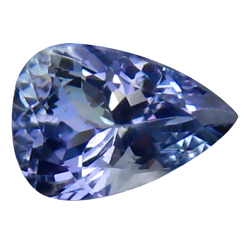 0.96 ct Flashing Pear Cut (7 x 5 mm) Tanzanian Bluish Violet Tanzanite Loose Gemstone