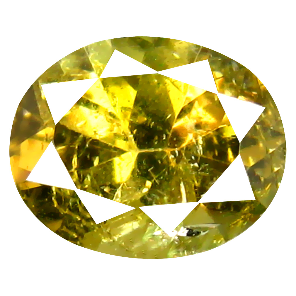 1.19 ct AAA+ Excellent Oval Shape (8 x 6 mm) Fancy Golden Yellow Tanzanite Natural Gemstone